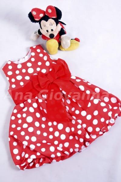 Vestido da Minnie balonê baby