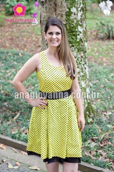 vestido abelhinha mãe