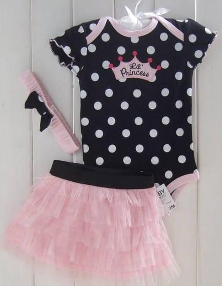 Body para bebê feminino importado Princess