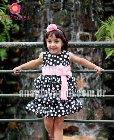 vestido da minnie preto com rosa