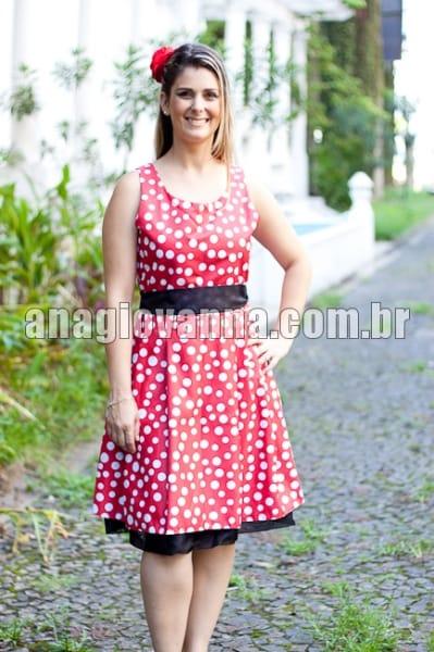 vestido da minnie adulto