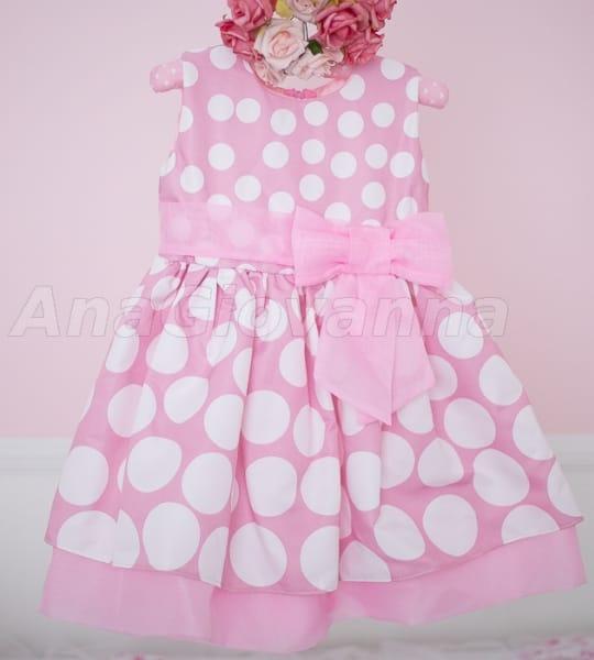 Vestido Infantil da Minnie Rosa