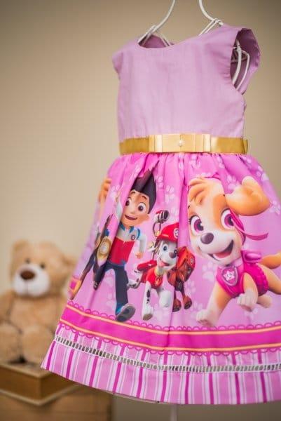 Vestido Infantil da Patrulha Canina
