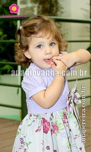 Vestido com Estampa Floral Infantil