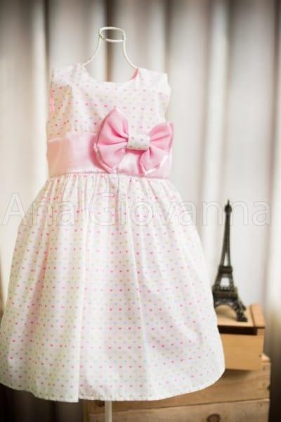Vestido Infantil de Corações