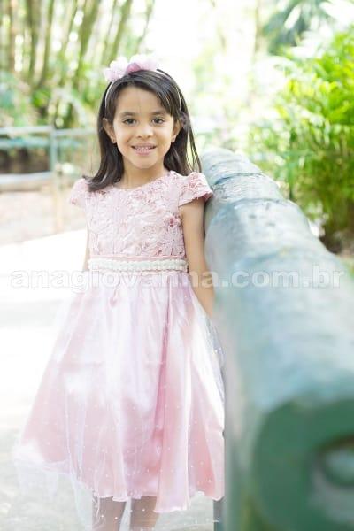 Vestido de Festa Infantil Princesa Provence