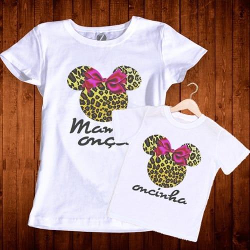 Camisetas Minnie Mãe e Filha