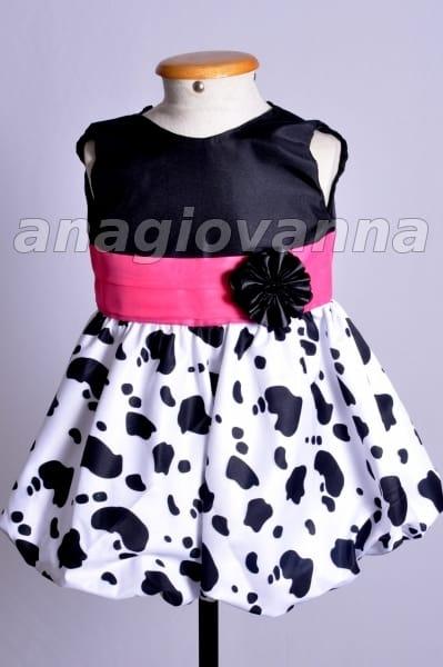 Vestido Infantil Fazendinha Rosa PInk