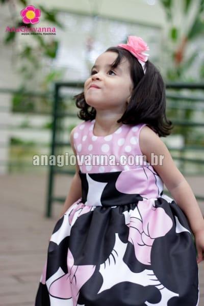 vestido minnie baby rosa