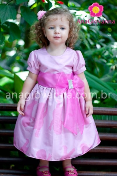 vestido uniqua infantil
