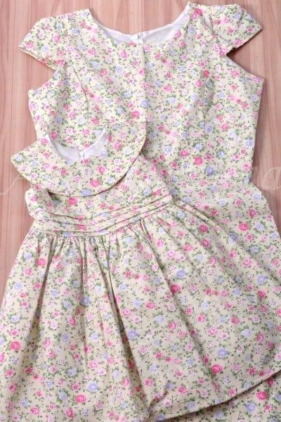 Vestidos M�e e Filha Floral Verde