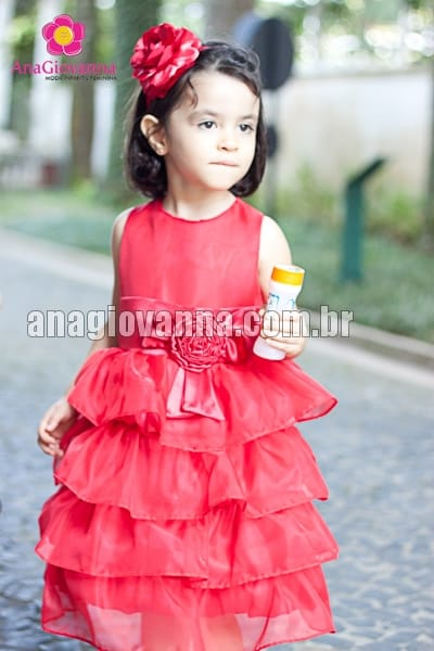 Vestido Chapeuzinho Vermelho Infantil