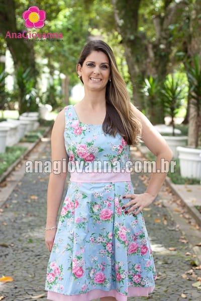 vestido para festa florido