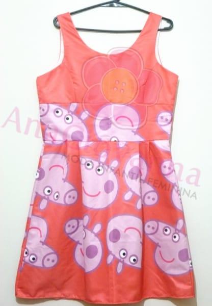 vestido adulto peppa pig