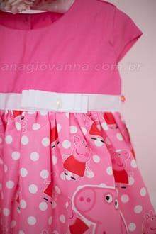 vestido da peppa rosa