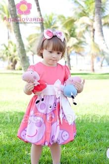 vestido rosa peppa pig