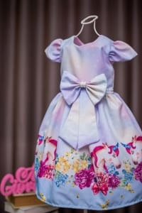 Vestido Infantil de Festa Unicornio