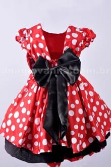 Vestido Minnie Vermelha - costas