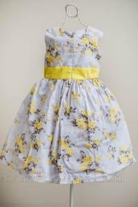 Vestido Floral Amarelo Infantil