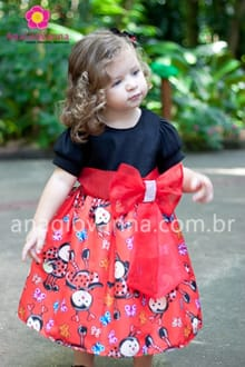 vestido de joaninha infantil