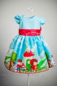 Vestido Infantil de Festa Chapeuzinho Vermelho