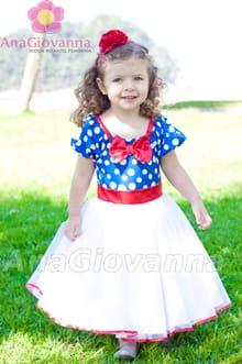 vestido infantil galinha pintadinha luxo