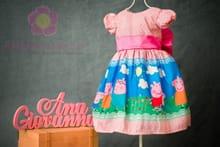 Vestido Infantil Peppa Pig