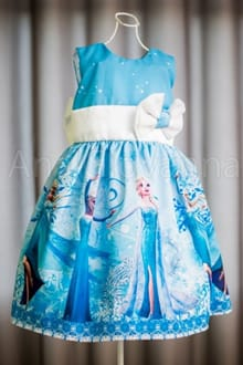 Vestido Elsa Frozen