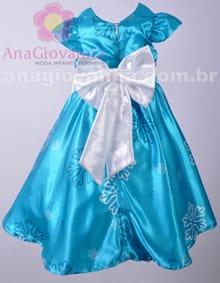 Vestido da Frozen Infantil costas