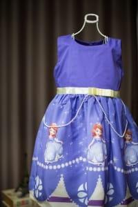 Vestido Infantil da Princesa Sofia
