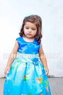 vestido infantil da pequena sereia