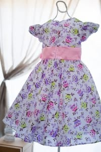 Vestido Infantil de Festa Corujinha
