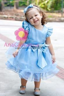 vestido infantil Alice no pais das maravilhas