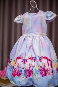 Vestido Infantil com Estampa de Unicornio