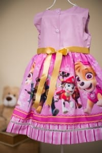 Vestido Infantil Tema Patrulha Canina