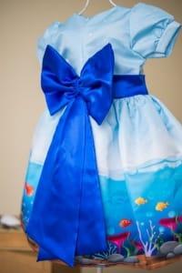 Vestido Infantil do Fundo do Mar