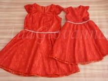 Vestidos Mãe e Filha Vermelho