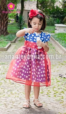 vestido de aniversário galinha pintadinha