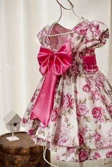 Vestido Infantil Floral Pink