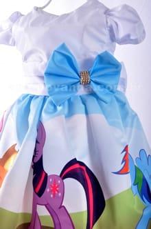 Vestido de festa infantil My Little Pony - detalhe