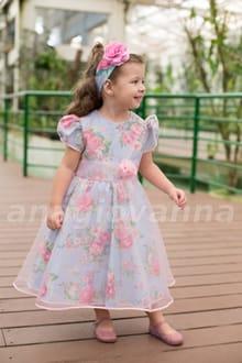 Vestido Infantil Jardim Encantado