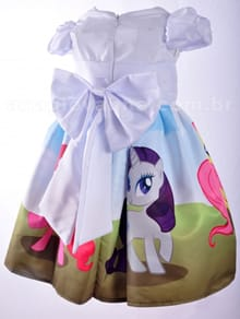 Vestido  festa infantil my little pony