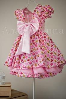 Vestido Infantil de Festa Passarinhos