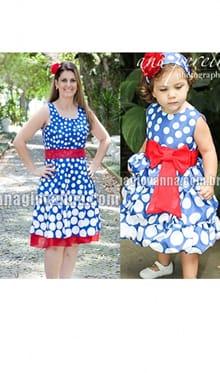 vestidos galinha pintadinha mãe e filha
