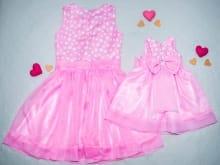 Vestidos da Minnie Rosa Mãe e Filha