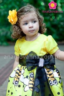 vestido infantil da abelhinha