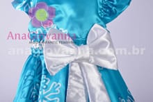 Vestido da Frozen Infantil detalhe