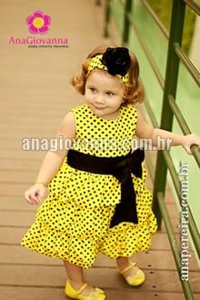 vestido infantil balone