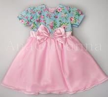 Vestido Infantil Princesa Rosa e Flora