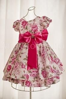 Vestido de Festa Infantil Floral